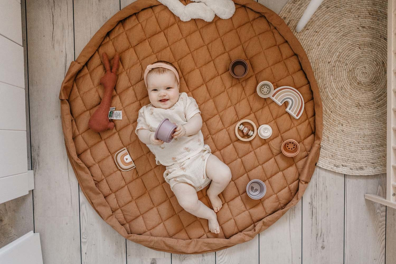 Organic babymat tawny brown-7