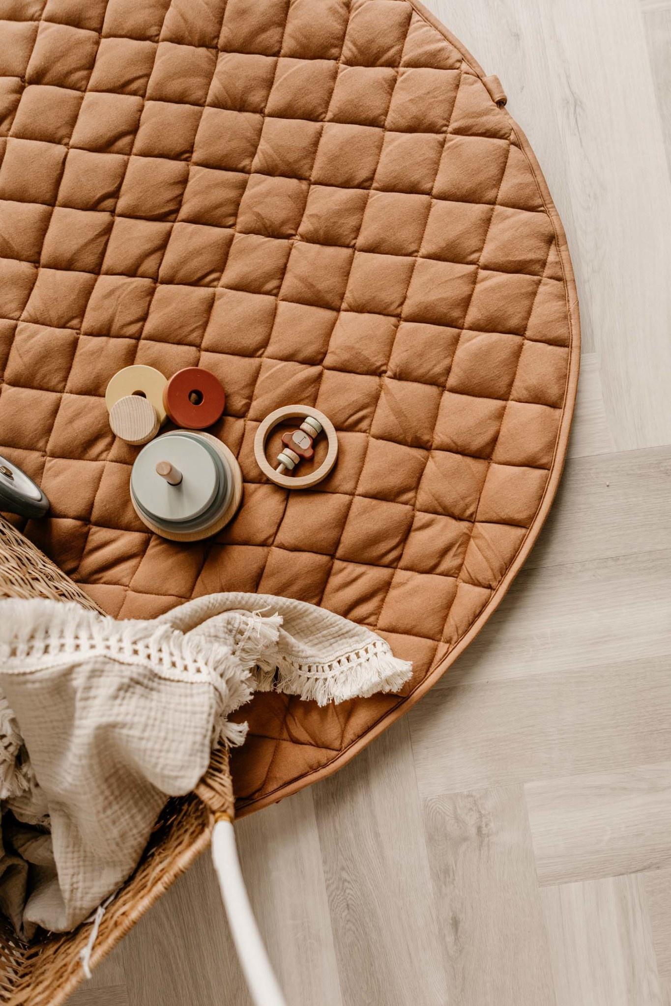 Organic babymat tawny brown-10