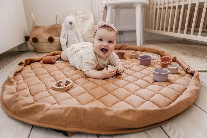 Organic babymat tawny brown-11