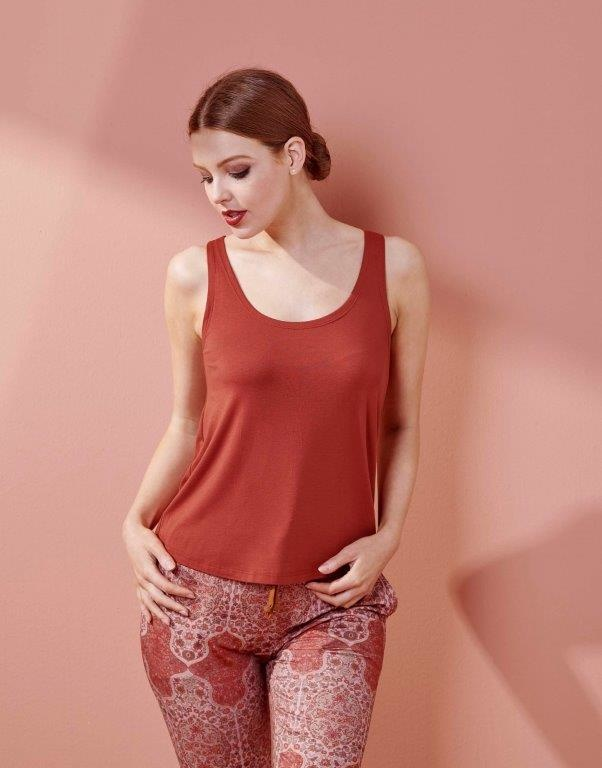 Essenza  Essenza Shelby uni top sleeveless S-M roseval