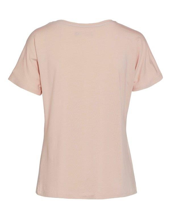 Essenza  Essenza Ellen uni top short sleeve XS-XXL rose