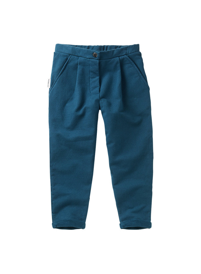 Mingo | cropped chino | teal blue