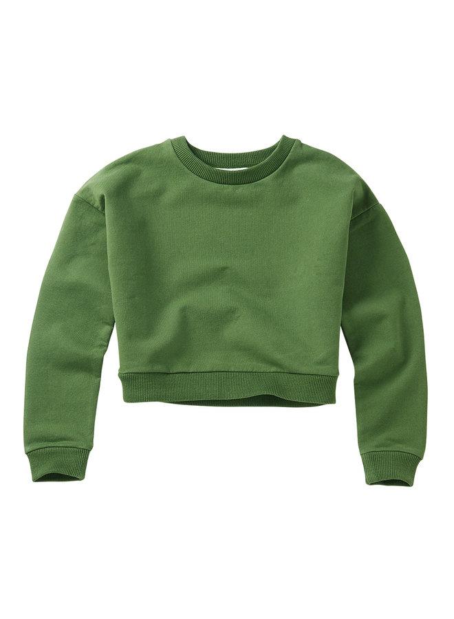 Mingo | cropped sweater | moss green