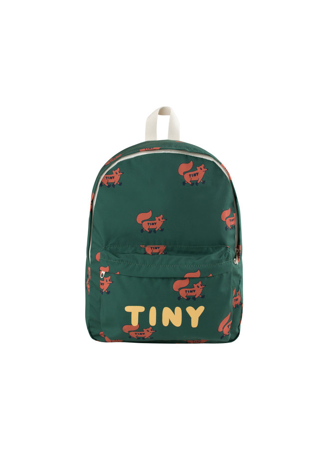 Tinycottons | foxes big backpack | dark green/sienna