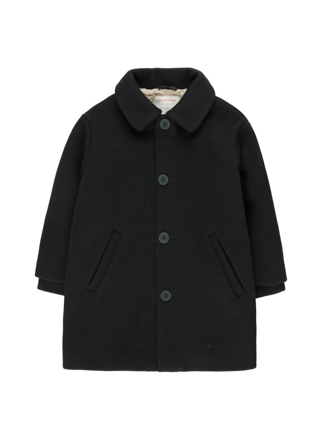 Tinycottons | woolen coat | black
