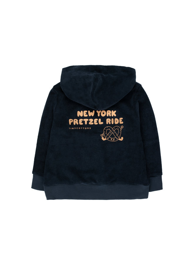 Tinycottons   pretzel ride hoody sweatshirt   navy/camel