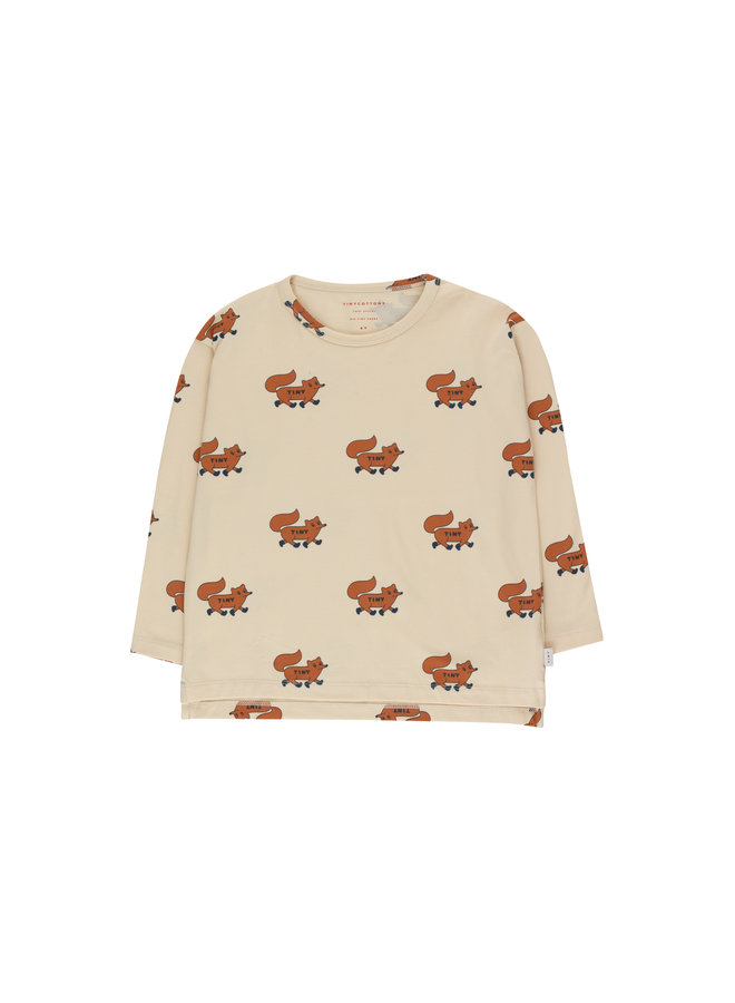 Tinycottons | foxes tee | cream/brown