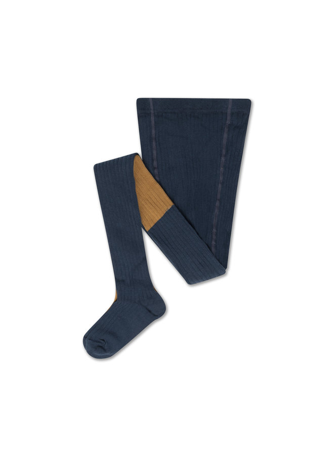 Repose AMS | tights | navy blue golden color block
