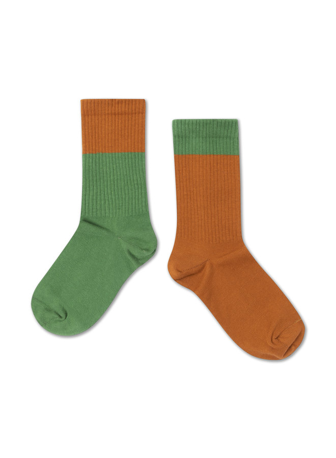 Repose AMS | socks  | hunter green autumn block