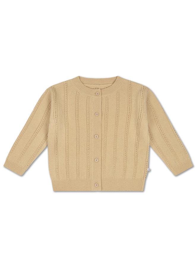 Repose AMS | knit round neck cardigan | vintage creme