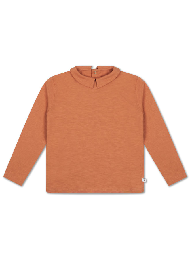 Repose AMS | t shirt with collar | burnt autumn