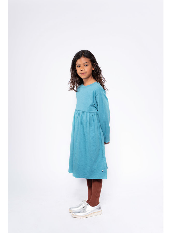 Repose AMS | midi dress | dusty storm blue