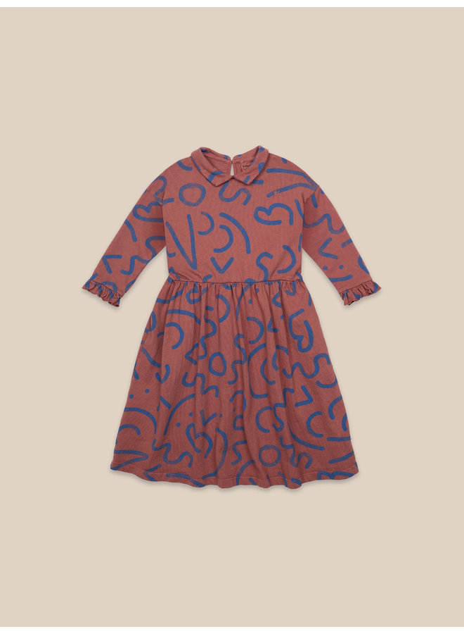 Bobo Choses | curved lines all over dress