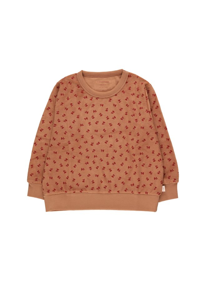 Tinycottons | tiny flowers sweatshirt | tan/burgundy