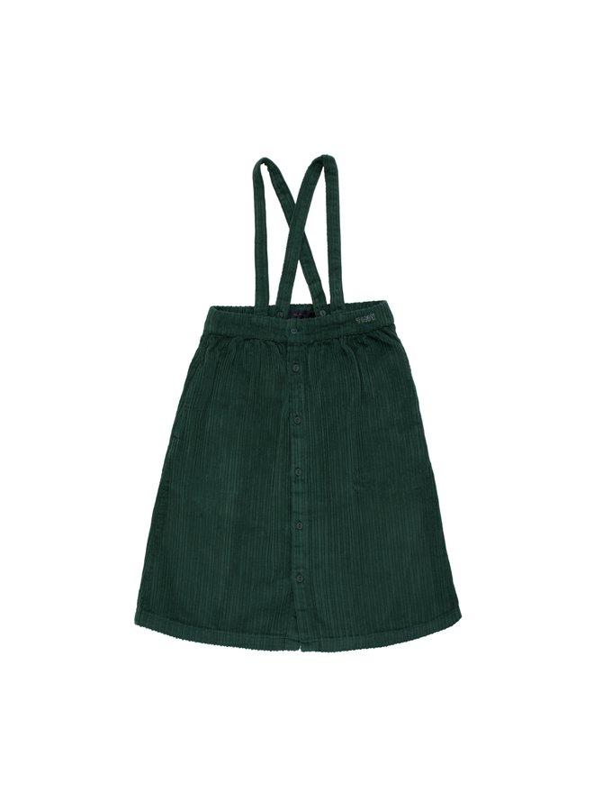 Tinycottons | solid braces midi skirt | dark green