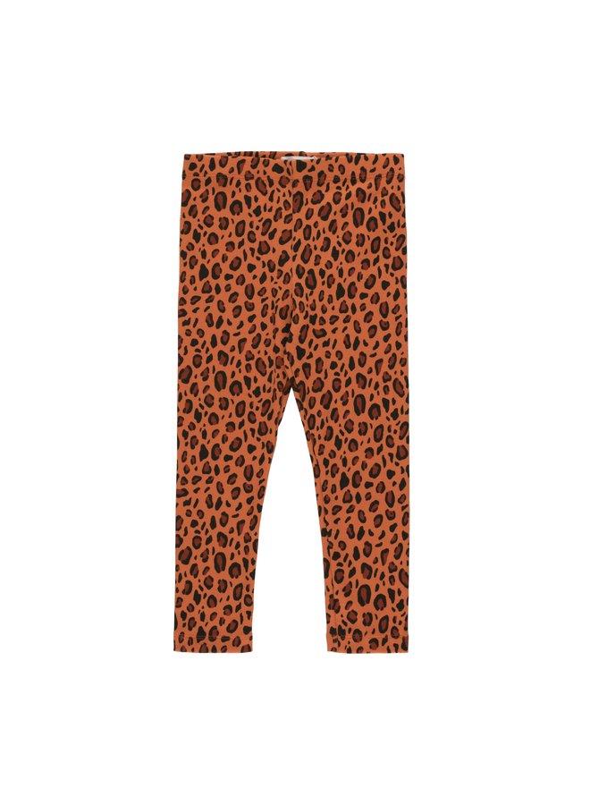 Tinycottons | animal print pant | sienna/dark brown