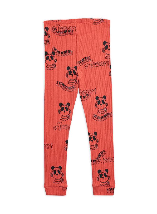 Mini Rodini | mozart aop leggings | red