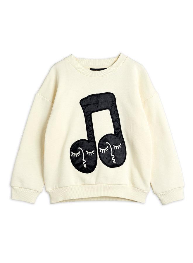 Mini Rodini | note patch sweatshirt | offwhite