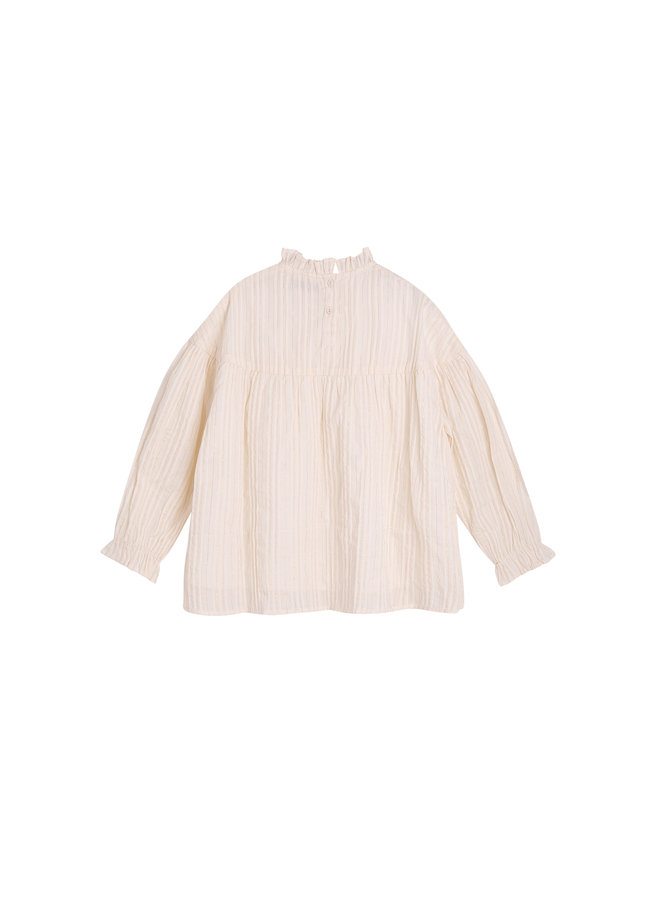 The New Society | lurex blouse | off white