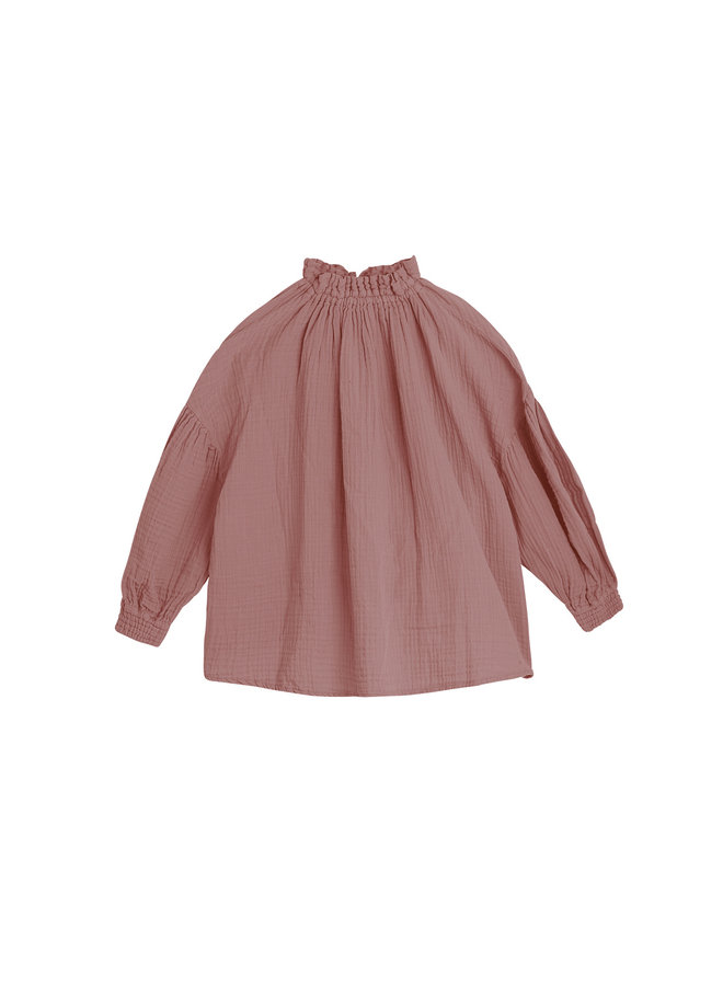 The New Society | olivia blouse | rose taupe