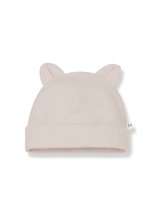 1+ in the family | leo beanie with ears | nude