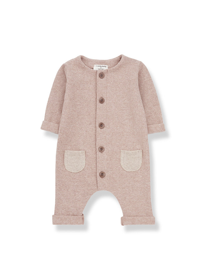 1+ in the family | montblanc jumpsuit | beige/rose