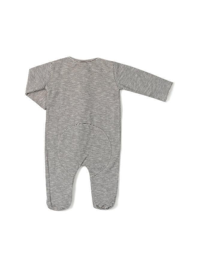 Nixnut | zipp onesie | stripe