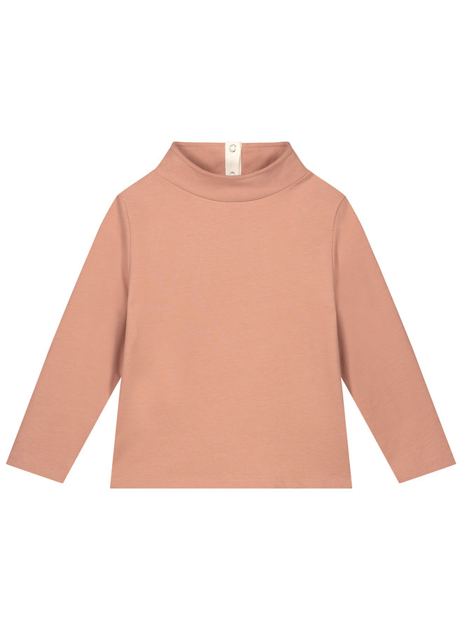 Gray Label | high neck sweater | rustic clay