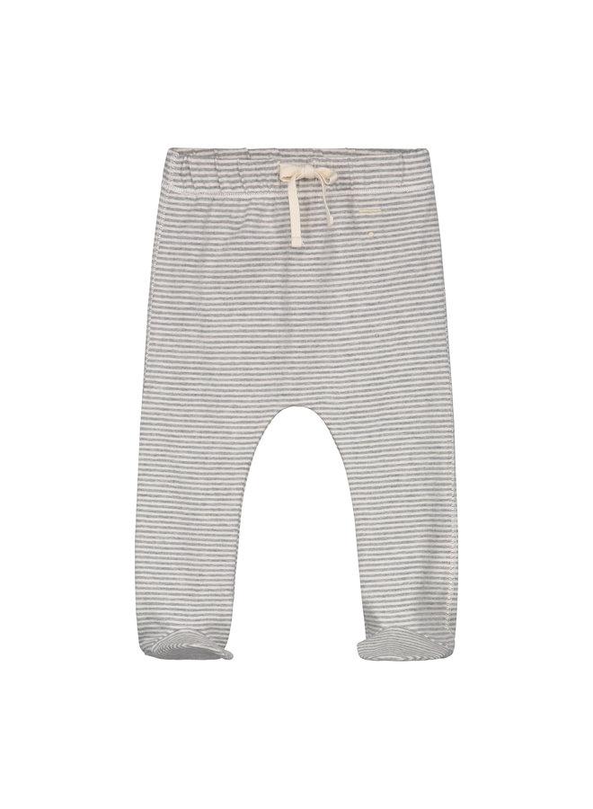 Gray Label | baby footies | grey melange/cream