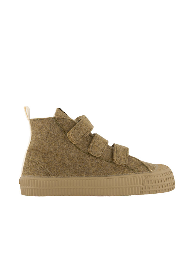 Gray Label | gl x novesta high top velcro felt | peanut