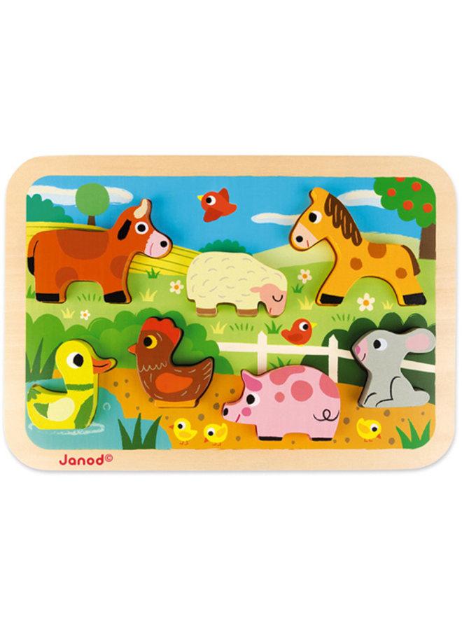 Janod   chunky puzzel   boerderij