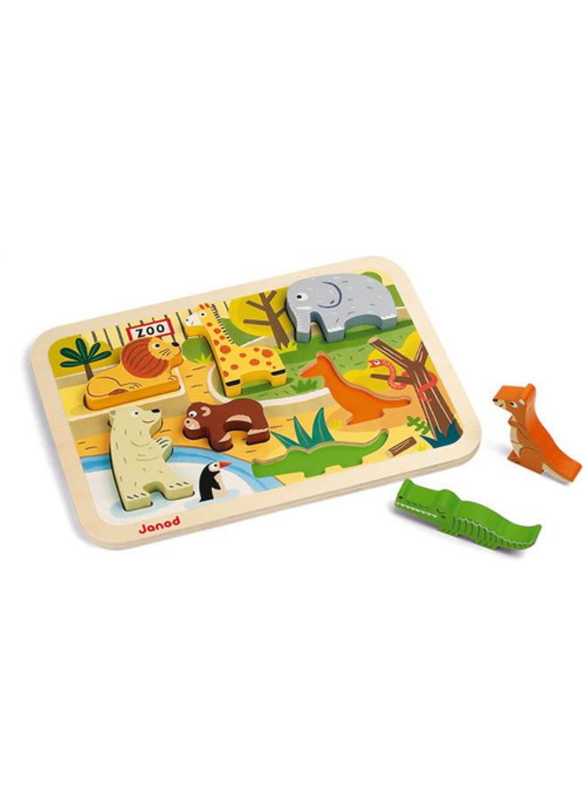 Janod | chunky puzzel | dierentuindieren
