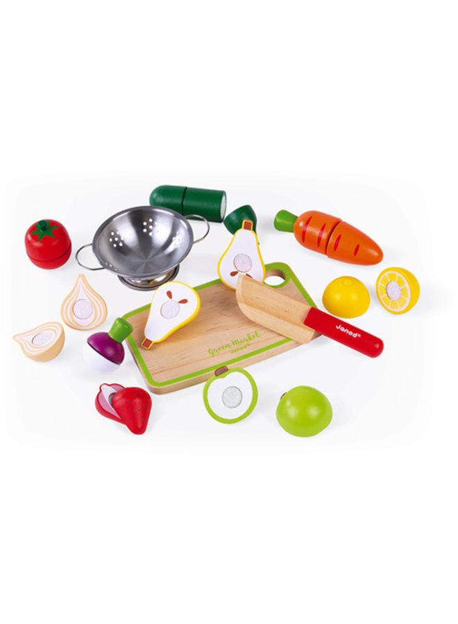 Janod | green market | groente en fruit maxi set