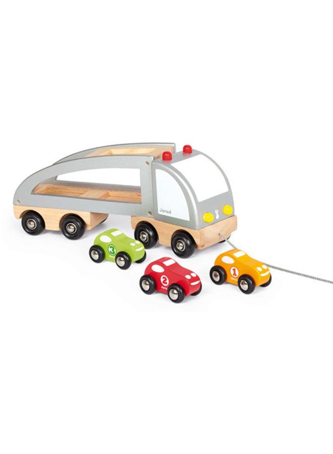 Janod | vrachtwagen met 3 auto's