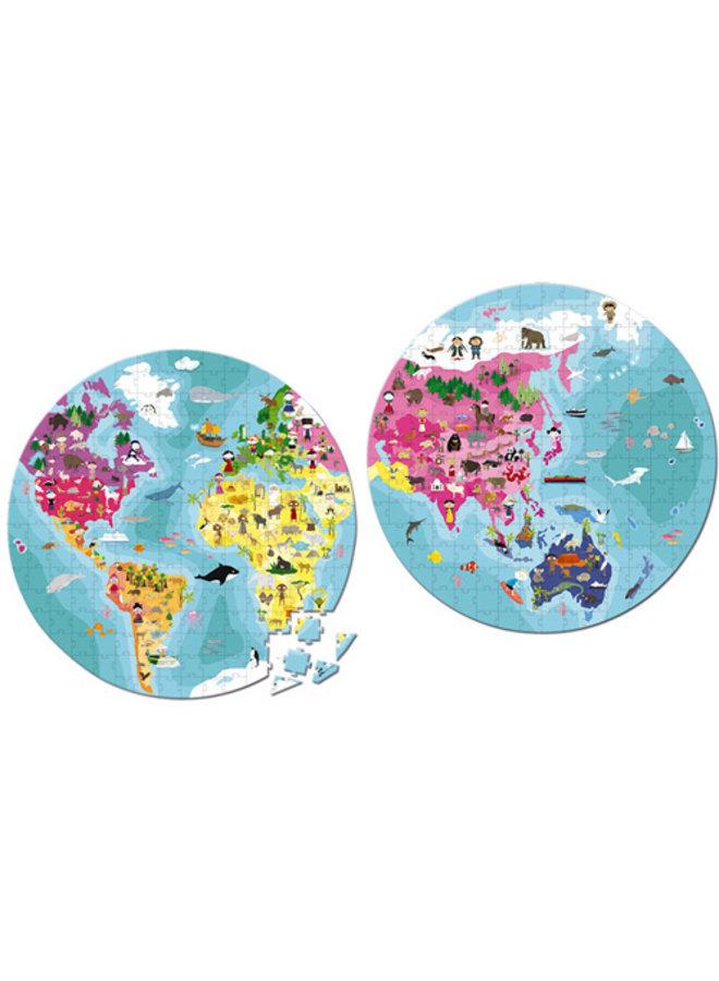 Janod | puzzel | aarde | 208 stukjes