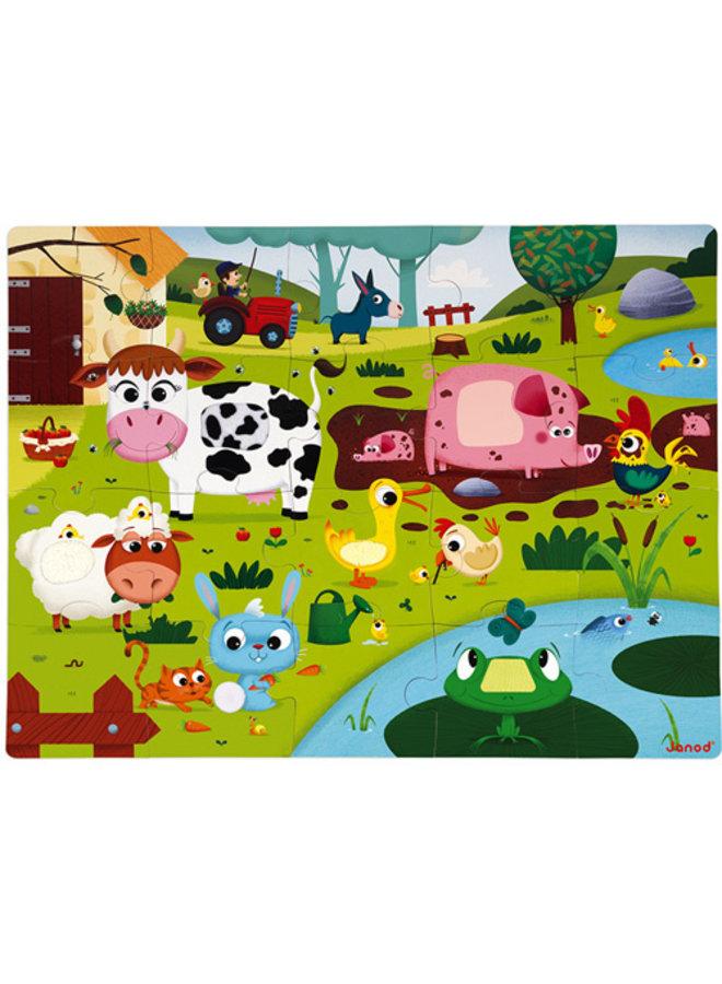 Janod   voelpuzzel   boerderijdieren
