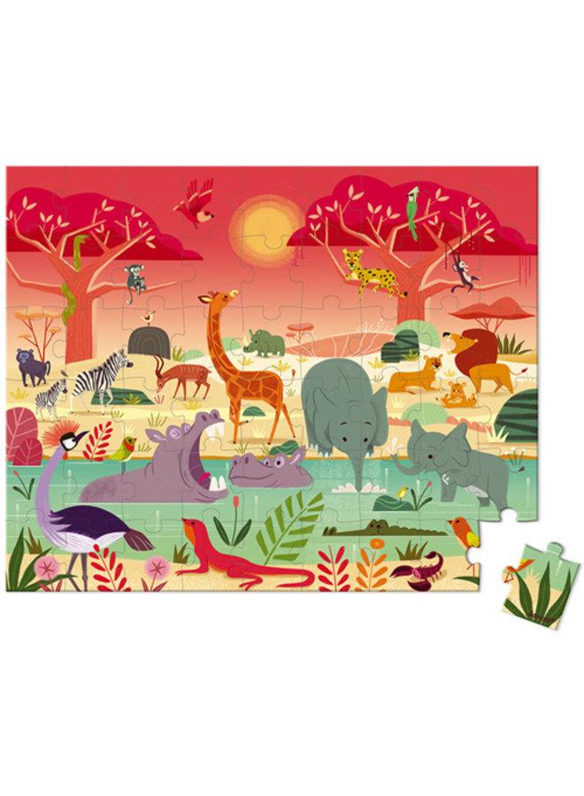 Janod | puzzel | het dierenreservaat