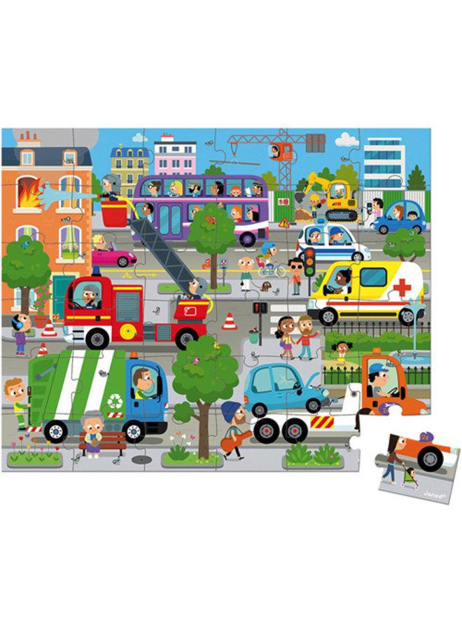 Janod | puzzel | de stad
