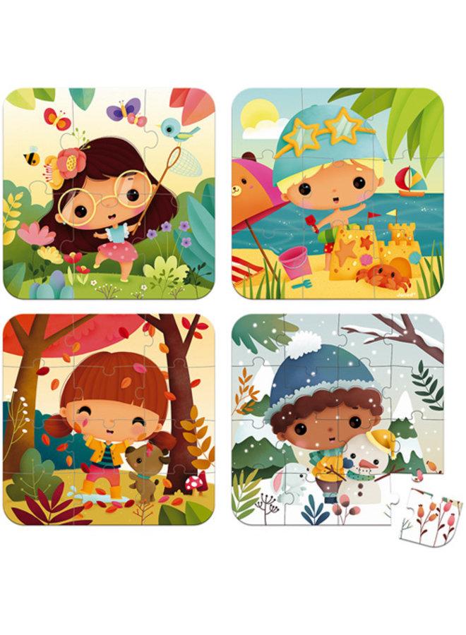 Janod | puzzel | 4 puzzels seizoenen