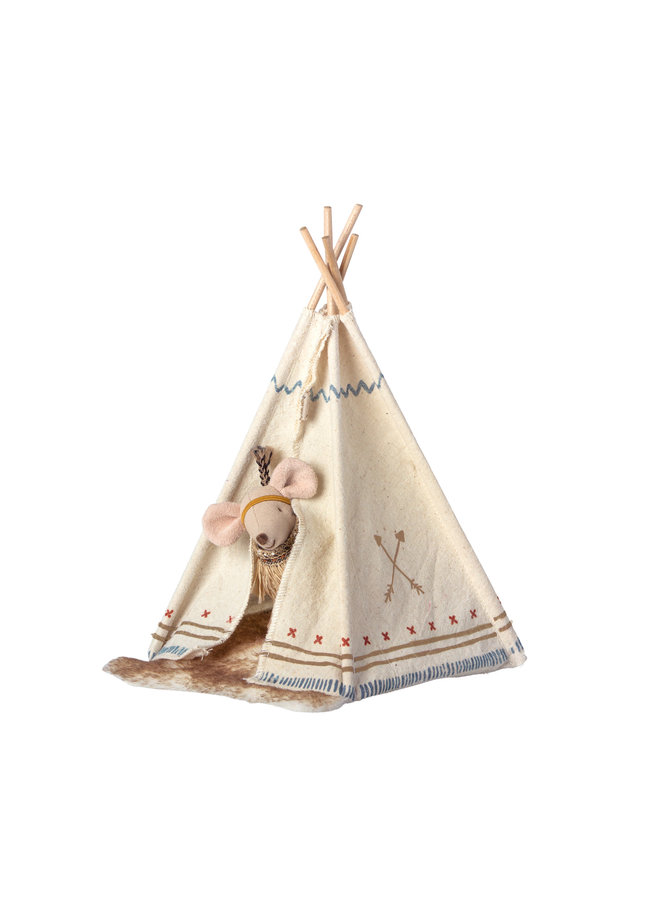 Maileg | little feather with tent | little sister mouse