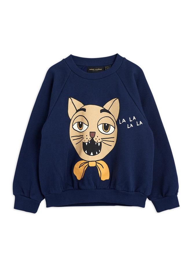 Mini Rodini   cat choir sp sweatshirt   navy