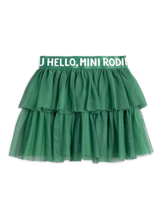 Mini Rodini | tulle skirt | green