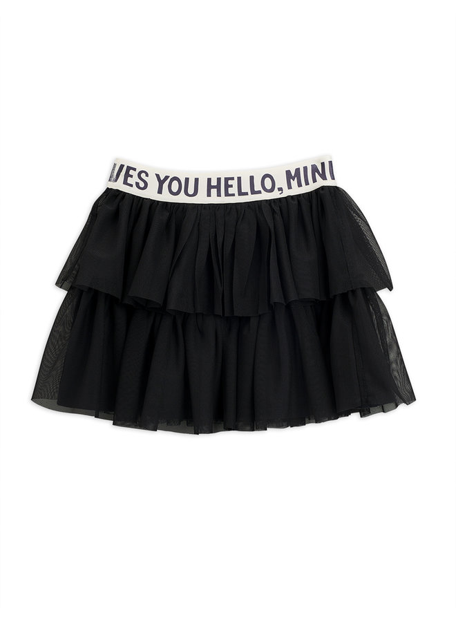 Mini Rodini | tulle skirt | black