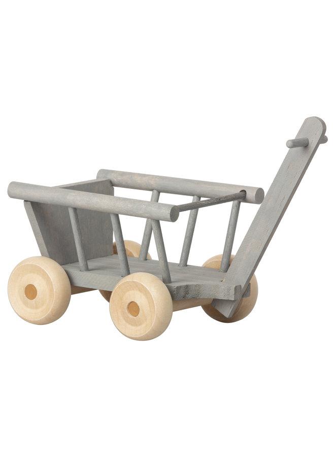 Maileg | wagon | micro | mint/grey