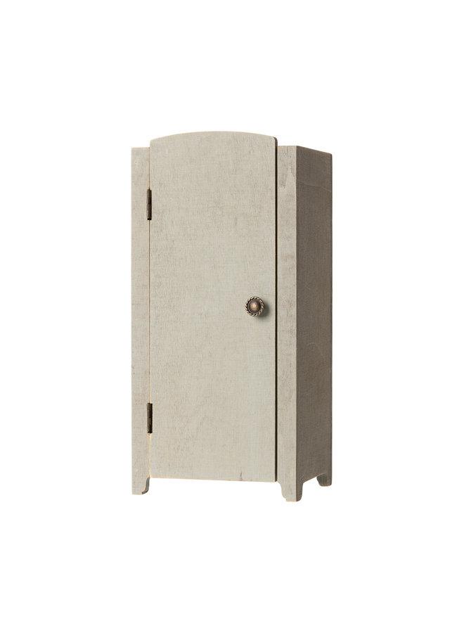 Maileg   vintage closet with shelves   mini   mint/grey
