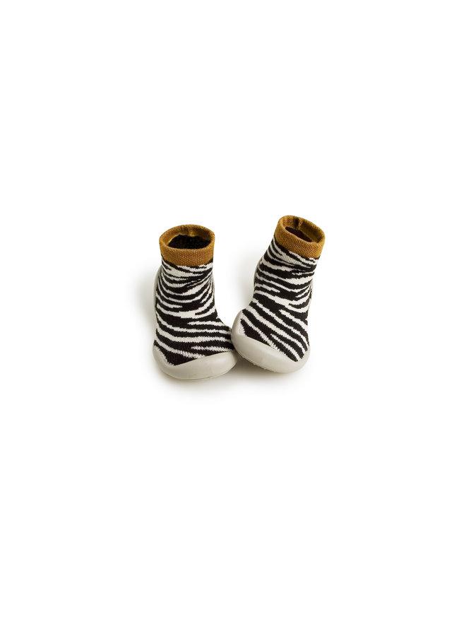 Collegien | sloffen | chaussons zebra