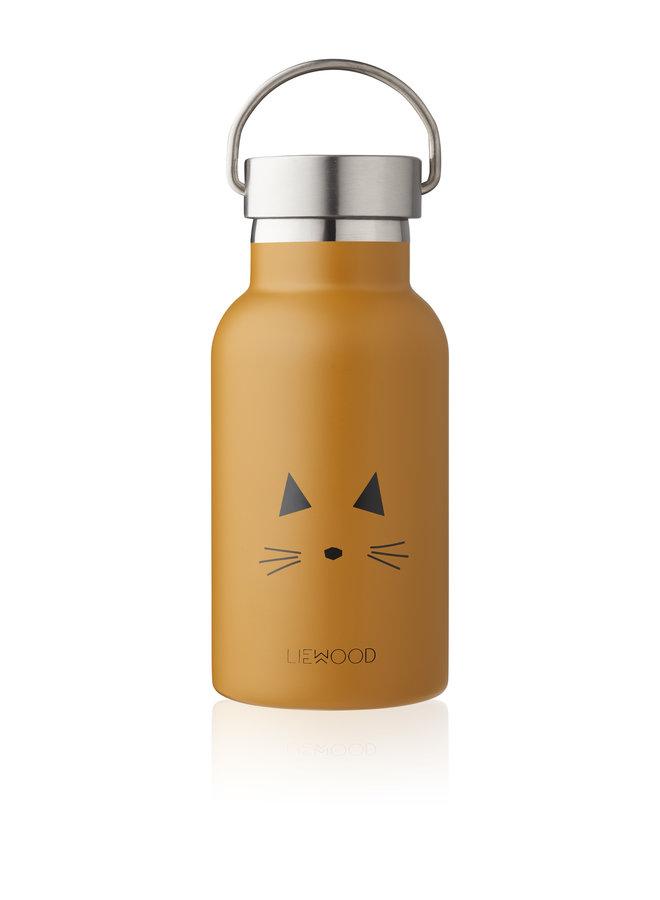 Liewood   anker water bottle   cat mustard