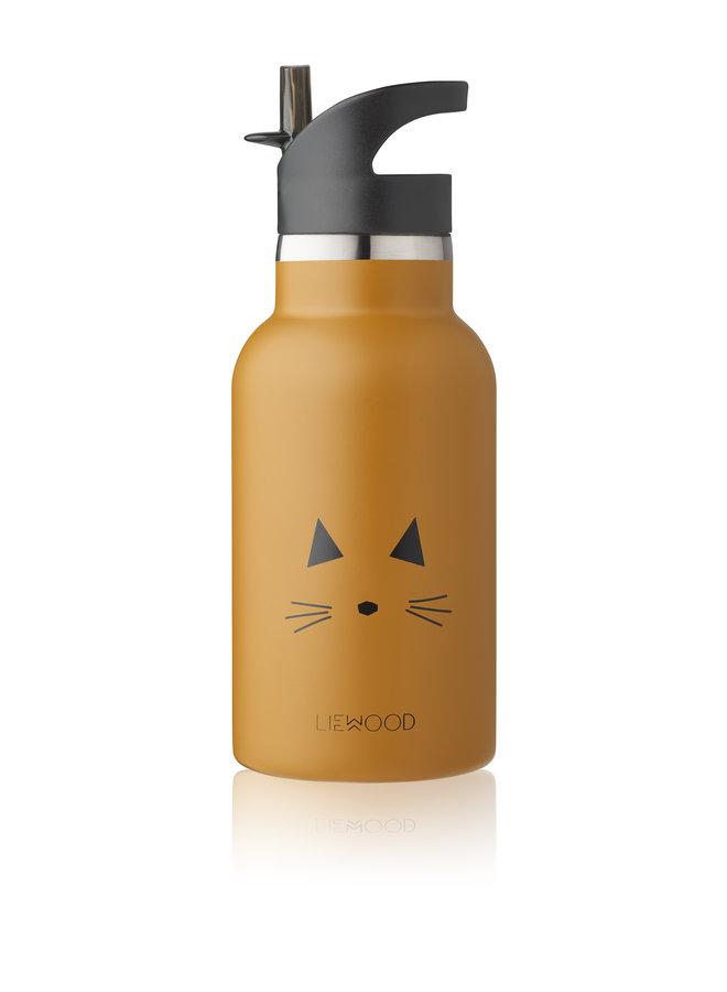 Liewood | anker water bottle | cat mustard