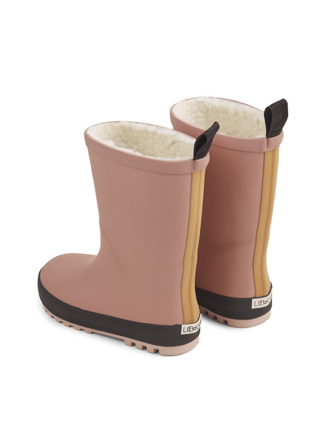 Liewood | mason thermo rain boot | dark rose