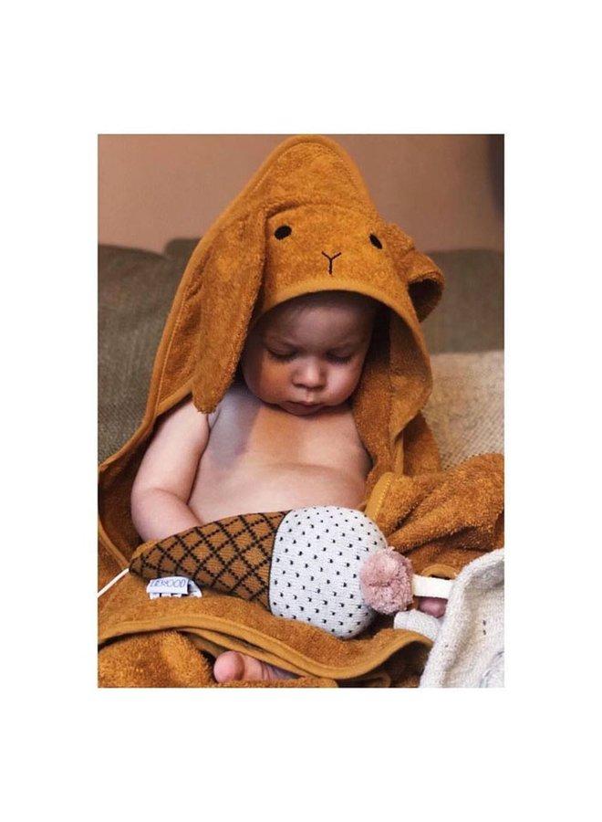 Liewood | augusta hooded towel | rabbit mustard